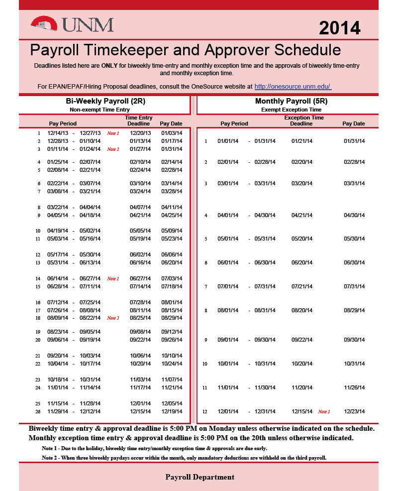 2015 Pay Schedule  Payroll Schedule Template